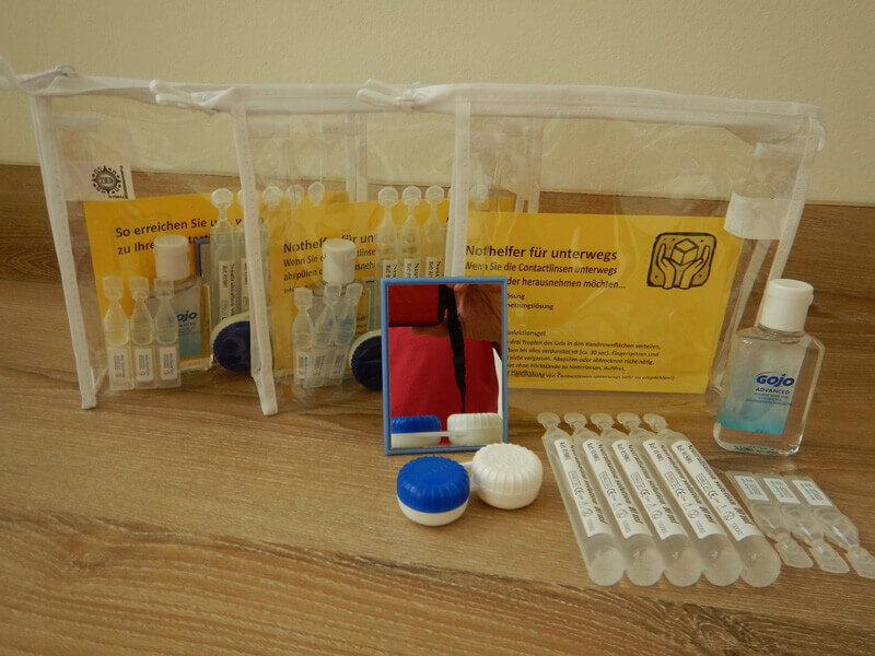 Nothelfer in Handgepäck-Größe für Kontaktlinsenträger auf Reisen –und viele Urlaubsgrößen gibt es bei Avermann Contactlinsen.