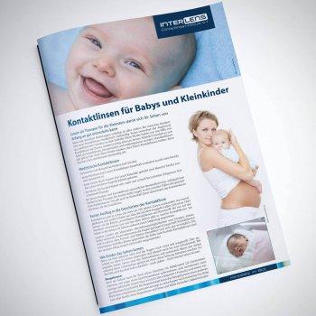 Infobroschüre Kontaktlinsen für Babys und Kleinkinder