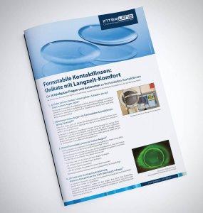 Infobroschüre für formstabile Kontaktlinsen